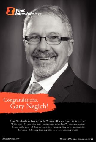 Congratulations Gary Negich!
