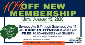 10% OFF New Membership