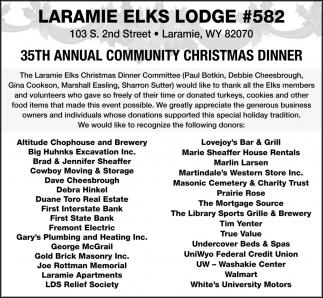 35th Annual Communit Christmas Dinner