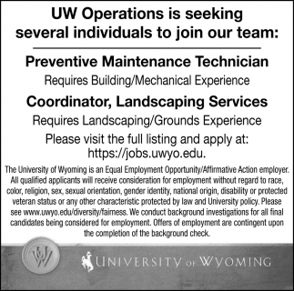 Preventive Maintenance Technician & Coordinator, Landscaping Services