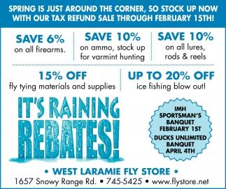 It's Raining Rebates!