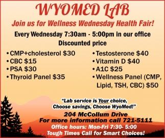 Join Us for Wellness Wednesday Health Fair!