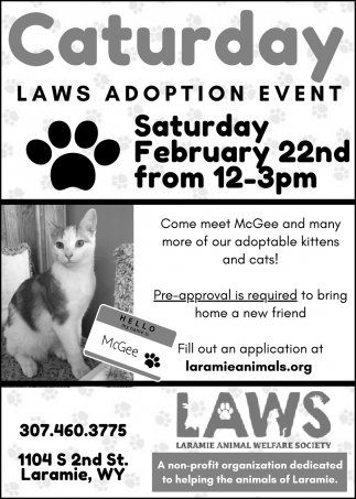 Caturday Laws Adoption Event