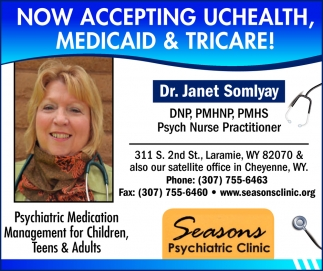 Now Accepting Uchealth, Medicaid & Tricare!