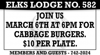 Join Us March 6th at 6pm for Cabbage Burgers