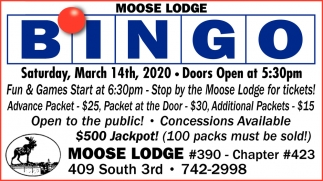 Moose Lodge Bingo