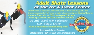 Adult Skate Lessons at the Ice and Event Center