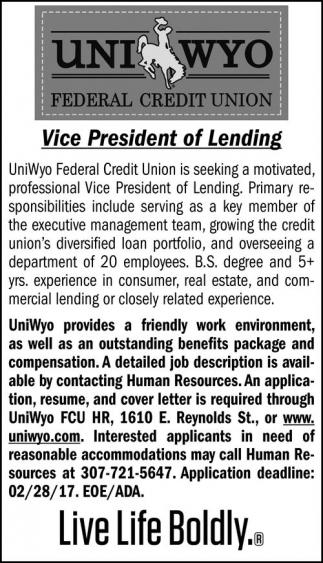 Vice President of Lending