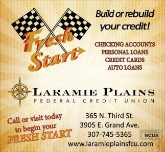 Build or rebuild your credit!