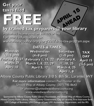 Get your taxes filled FREE